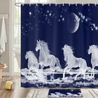 Crystal White Horse Fairy Shower Curtain Bathroom Decor Fabric 12hooks 71in