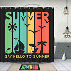Hello Summer Shower Curtain Bathroom Decor Fabric 12hooks 71in