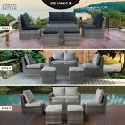 London Rattan Outdoor Furniture 6pc Set Setting Chairs Lounge Wicker Couch Sofa