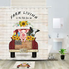 Country Life, Ranch Animals Shower Curtain Bathroom Decor Fabric 12hooks 71in