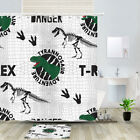 Tyrannosaurus Skeleton Shower Curtain Bathroom Decor Fabric 12hooks 71in