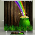 Rainbow Gold Coin Jar Shower Curtain Bathroom Decor Fabric 12hooks 71in