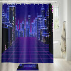 Virtual Internet City Shower Curtain Bathroom Decor Fabric 12hooks 71in