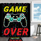 Game Over Shower Curtain Bathroom Decor Fabric 12hooks 71in