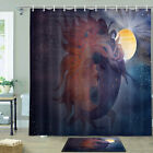 Moon Goddess Shower Curtain Bathroom Decor Fabric 12hooks 71in
