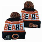 Colorful Pompom Beanie Hat Winter Warm Knit Sports NFL Teams Cap Unisex Adults
