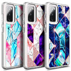 For Samsung Galaxy S20 FE 5G Luxury Marble Phone Case + Tempered Glass Protector