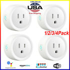 1/2/3/4 Pack Smart Wi-Fi Plug Outlet Works with Alexa & Google Home