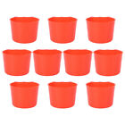 10pcs Thicken Birds Hoppers Pigeon Feeders Food Feeding Bowls Trough Boxes