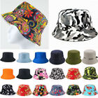 Mens Womens Bucket Hats Floral Boonie Outdoor Fishing Travel Caps Summer Sun Hat