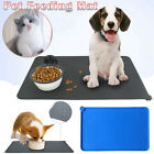 Pet Silicone Placemat Waterproof Pet Food Mat Non-Skid Cat Dog Feeding Bowl Pad