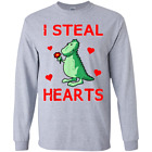 Unisex Kids Dinosaur Valentine's Day I Steal Hearts Toddler Youth LS T-Shirt
