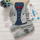 Baby Boy Kid Gentry Suit Christening Wedding Shirt Pants Set Formal Clothes
