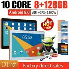 "10.1"" Metal Tablet Android Pad 10-Core 8 128GB Dual Camera WIFI 2 SIM Phablet PP"