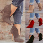 Women Vintage High Stiletto Heel Platform Boots Shoes Casual Ankle Boots Shoes