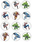 Superheroes Themed 12 x Edible Cup Cake Cupcake Toppers For Celebration Birthday