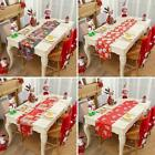 Christmas Embroidered Tablecloth Santa Claus Floral Decor Dinner Party V5y8