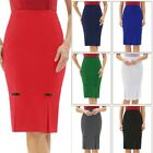 Retro Skirt Casual Women Pencil Hips-wrapped Bow-knot Vintage Solid Knee length