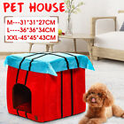 Indoor Double-sided Fleece Pet Cat Puppy Dog House Home Shelter Kennel Bed H