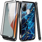 For OnePlus Nord N10 5G / N100 Case Shockproof Hard PC Cover with Tempered Glass