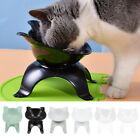 Cat Shaped Pet Bowls with Raised Stand Dog Cat Food Water Feeding Station UK
