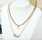 12 Constellation Pendant Necklace Zodiac Signs Women Clavicle Chain Jewelry Lot