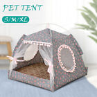 Pet Soft Bed with Cushion Detachable Dog House Nest Tent Sleeping Pad House