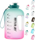 Bottled Joy Half Gallon Water Bottle, Bpa Free 75Oz Large Water Bottle Hydration