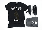 Premium Just A Girl Who Loves Crows T Shirt Gift Crow Raven Lover Gifts