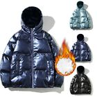 Plus size Jacket Coat Outwear Outdoor Hooded Puffer Shiny Parka Padded