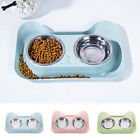 Cat Puppy Feeder Stainless Steel Feeding Bowls Double Pet Bowl Water Food Dish