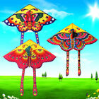 1Set 90 50cm butterfly printed long tail kite outdoor kite toy with handle lYJSG