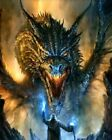 Magician And Dragon Battle Painting Paint By Numbers Kit DIY Artwork