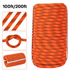 """7/16"""" Double Braid Polyster Rope 100FT 200FT Nylon Pulling Rope Rigging Outdoor"""