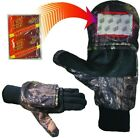 Heat Factory 991-MO-XL Heated Pop Top Gloves Pr Mossy Oak With Liner