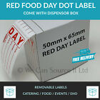 Food Hygiene Day Dot food LABEL Best Before Labels -(RED LABEL) 10-10000 labels