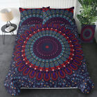 Indian Ombre Mandala Printed Bedding Duvet Cover Queen Size Set Bedroom Decor