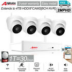 ANRAN Wireless Security Camera System CCTV Outdoor 4PCS WIFI Audio 8CH NVR Kit