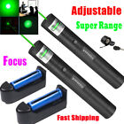 990Miles Green Laser Pointer Pen 532nm Visible Beam Light Teaching+18650+Charger