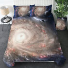 Kids Galaxy Microfiber Duvet Cover Set with 2 Pillow Shams, Twin Size Bedding