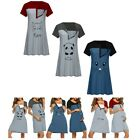 Pregnancy Dresses Casual Round Neck Short Sleeve Maternity A-line Skirt Costumes