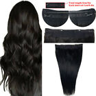 "100 Real Human Hairpiece Remy Full Head 20"" Long Clip In Human Hair Extensions"