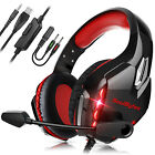 3.5mm Stereo Bass Sound LED Pro Gaming Headset Headphone w/Mic for XBOX One/PS4