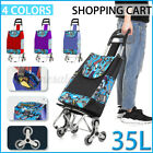3 Wheeled Smooth Lightweight Folding Shopping Trolley Luggage Cart Grocery Bag