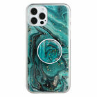 For iPhone 12 Pro Max 11 XR XS 8 7 SE2 Marble Rubber Stand Protective Case Cover