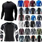 Men Long Sleeve Compression Base Layer T-Shirt Gym Sport Fitness Stretch Top