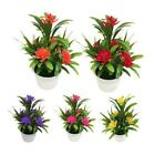 Artificial Potted Simulation Fake Lotus Plants Flower Home Garden Table Decor