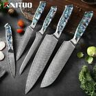 Chef Steel knife Set 1-5 PCS Kitchen Tools Knives knife Exquisite Shell Handle