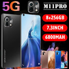 7.3 Inch Large Screen M11 Pro Android 10.0 Smart Phone 8g+256g Dual Sim 5g New