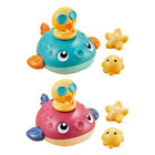 Baby Electric Bath Toys Floating Water Spray Toys Puffer Fish Duck Star Kit